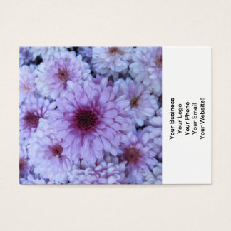 Chrysantheme-lila Weiß Visitenkarte