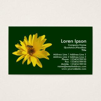 Chrysantheme und Schwebeflug-Fliege - dunkelgrün Visitenkarte