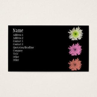 Chrysantheme Visitenkarte