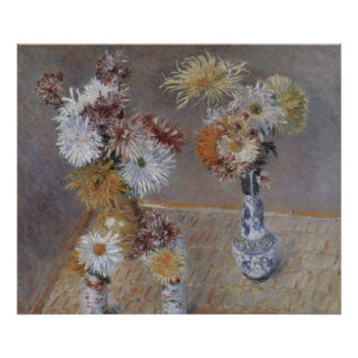 Chrysanthemen durch Gustave Caillebotte Poster