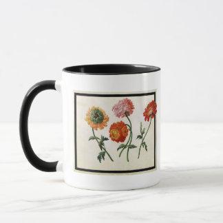 Chrysanthemen (w/c auf Papier) Tasse