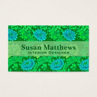 Chrysanthemen Williams Morris, Limones Grün u. Visitenkarte