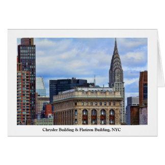 Chrysler-Gebäude, Flatiron, blauer Himmel, Wolken Karte
