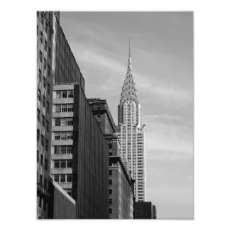 Chrysler-Gebäude FOTO-DRUCK B&W