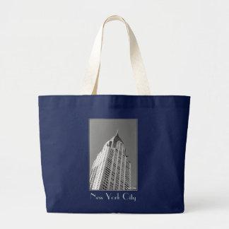 Chrysler-Gebäude-Leinwand-Tasche Jumbo Stoffbeutel