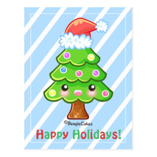 Chsritmas Baum-frohe Feiertage Postkarte