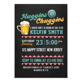 Chuggies u. Huggies Babyparty-Einladung Karte