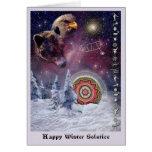 Chumash Winter-Sonnenwende Grußkarte