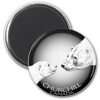 Churchill Andenken-Eisbär-Kunst-Magneten u. Runder Magnet 5,1 Cm