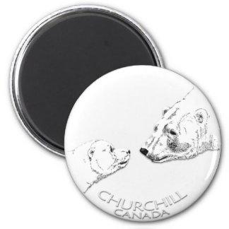 Churchill Andenken-Eisbär-Kunst-Magneten u. Runder Magnet 5,7 Cm