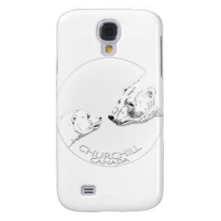 Churchill Andenken-polarer Bärn-Kunst-Shirts u. Galaxy S4 Hülle