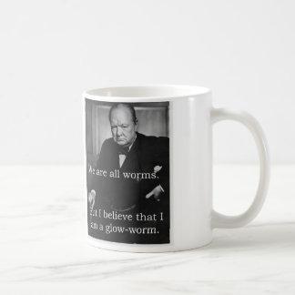 Churchill: Ich bin ein Glowworm Kaffee Haferl