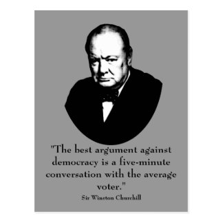 Churchill und lustiges Zitat Postkarte