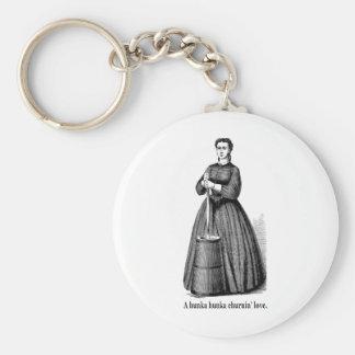 Churnin Liebe (schwarzer Text für helle Shirts) Schlüsselanhänger