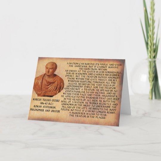 Cicero Zitat Nation Kann Verrat Nicht überleben Karte