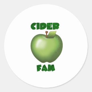CiderFam Klassiker-Aufkleber Runder Aufkleber