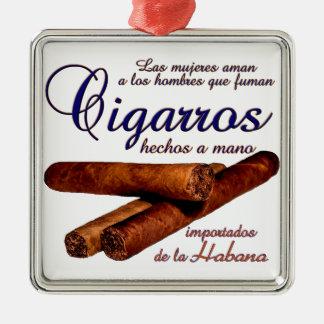 Cigarros - Cirars Silbernes Ornament
