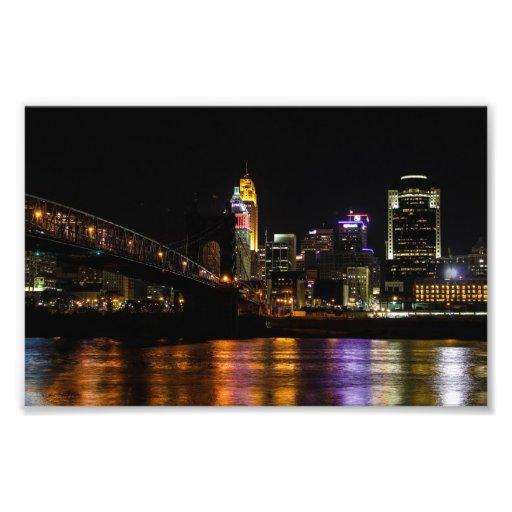 Cincinnati bis zum Nacht Foto Drucke