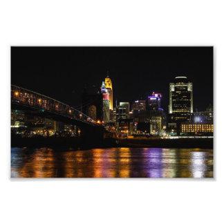 Cincinnati bis zum Nacht Photo Drucke