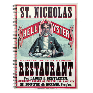 Cincinnati-Restaurant-Anzeige 1873 Spiral Notizblock