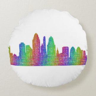 Cincinnati-Skyline Rundes Kissen
