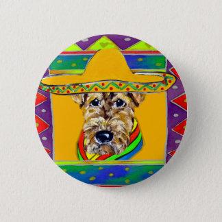 Cinco De Mayo Airedale Runder Button 5,7 Cm