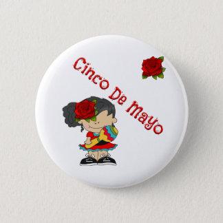 Cinco De Mayo Runder Button 5,1 Cm