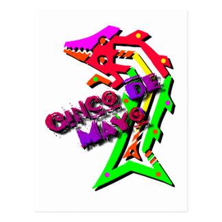 Cinco De Mayo Salamander Postkarte