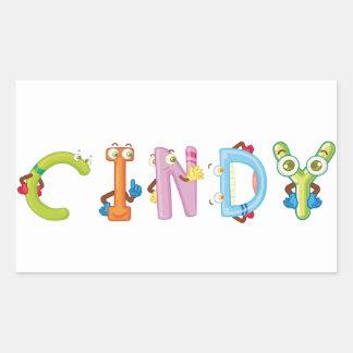 Cindy-Aufkleber Rechteckiger Aufkleber