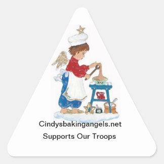 Cindy Backen-Engels-Aufkleber! Dreieckiger Aufkleber