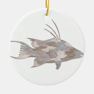 Cindy CamouflageHogfish Keramik Ornament