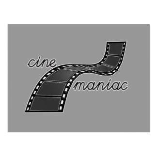 Cinemaniac mit Film-Streifen Postkarte
