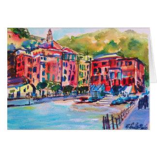 """""""Cinque Terre Dorf-"""" italienische leere Karte"""