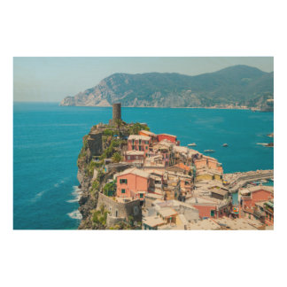 Cinque Terre Italien Holzdruck