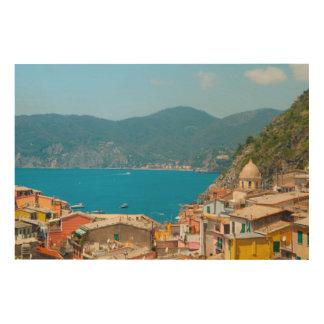 Cinque Terre Italien Holzwanddeko