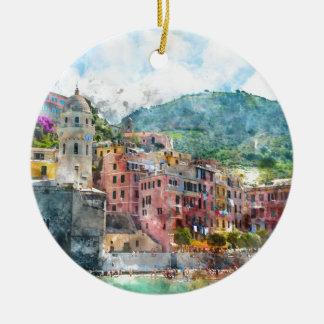 Cinque Terre Italien im italienischen Riviera Keramik Ornament