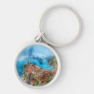 Cinque Terre Italien im italienischen Riviera Schlüsselanhänger