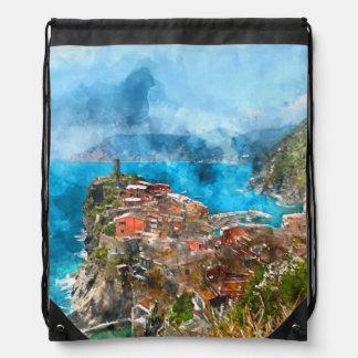 Cinque Terre Italien im italienischen Riviera Sportbeutel