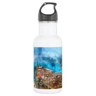 Cinque Terre Italien im italienischen Riviera Trinkflasche