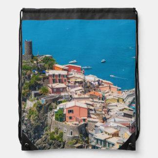 Cinque Terre Italien im italienischen Riviera Turnbeutel