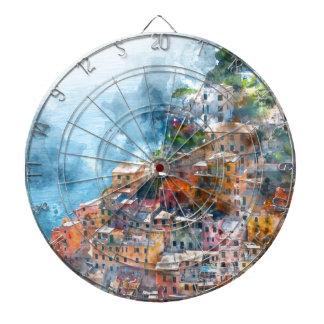 Cinque Terre Italien - Italiener Riviera Dartscheibe