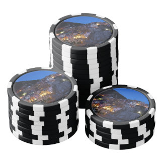 Cinque Terre Italien nachts Poker Chips Set