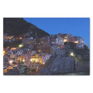 Cinque Terre Italien nachts Seidenpapier