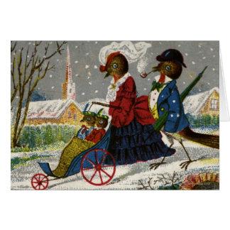 Circa 1870: Die Robin-Familie nehmen einen Stroll Karte