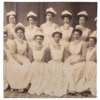 circa Krankenpflegeschulabsolvent 1914 Stoffserviette
