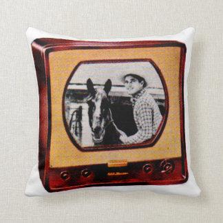 circa Set-Cowboyshow mit 1951 Portable Fernseh Kissen
