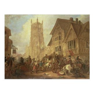 Cirencester Marktplatz, mit der Abtei und dem K Postkarte