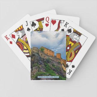 Citadelle de Corte, Korsika, Frankreich Spielkarten