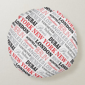 Cities of the world - Coussin rong Rundes Kissen