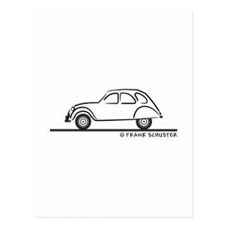 Citroen 2CV Postkarte